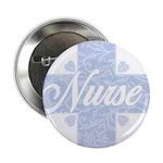 "Nurse Blue Lacy Cross 2.25"" Button"