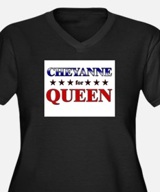 CHEYANNE for queen Women's Plus Size V-Neck Dark T