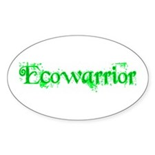 Ecowarrior Oval Decal