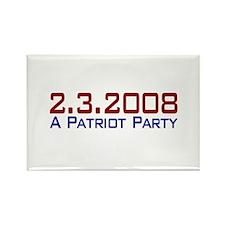 A Patriot Party Rectangle Magnet