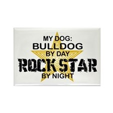Bulldog RockStar Rectangle Magnet
