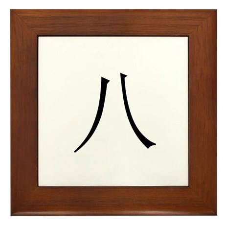 Chinese Number 8 Eight Framed Tile
