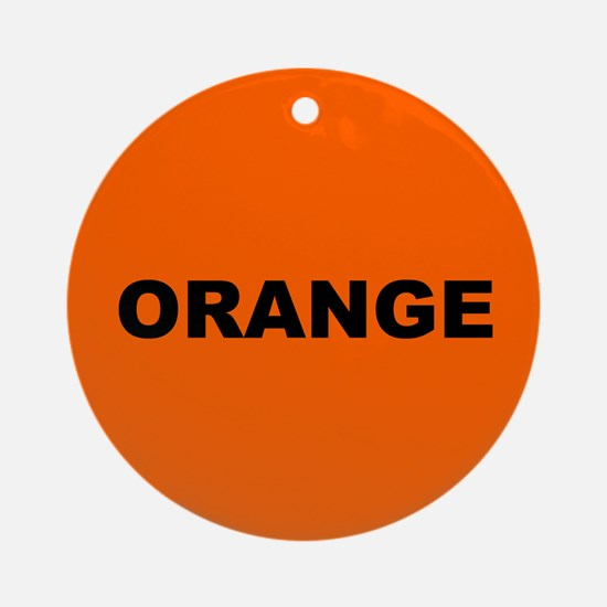 Orange Color Ornament (Round)