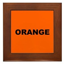 Orange Color Framed Tile