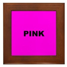 Pink Color Framed Tile