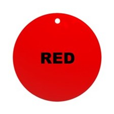 Red Color Ornament (Round)