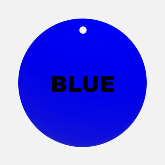 Blue Color Ornament (Round)