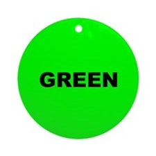 Green Color Ornament (Round)