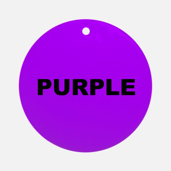 Purple Color Ornament (Round)