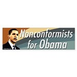 Nonconformists for Obama bumper sticker