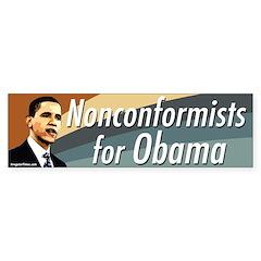 Nonconformists for Obama bumper sticker