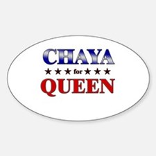 CHAYA for queen Oval Decal