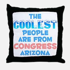 Coolest: Congress, AZ Throw Pillow
