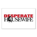 Real Desperate Housewife Rectangle Sticker