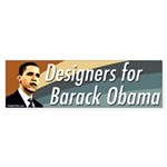 Designers for Barack Obama bumper sticker