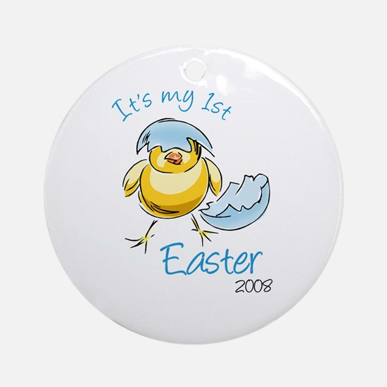 It's My First Easter '08 Ornament (Round)