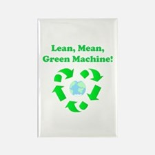 Lean, Mean, Green Machine Rectangle Magnet