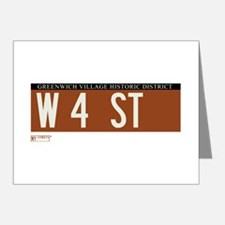 4th Street in NY Note Cards (Pk of 20)