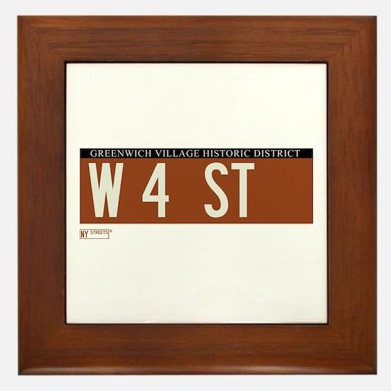 4th Street in NY Framed Tile