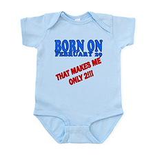 Leap Year Birthday I'm 2 Infant Bodysuit