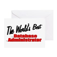 """The World's Best Database Administrator"" Greeting"