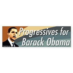 Progressives for Barack Obama bumpersticker