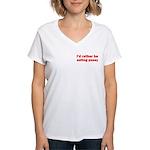 Eating Pussy Women's V-Neck T-Shirt
