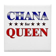 CHANA for queen Tile Coaster