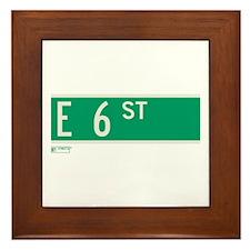 6th Street in NY Framed Tile
