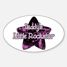 Daddy's Little Rockstar Oval Decal