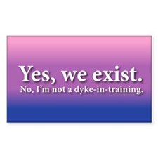 Not A Dyke-In-Training Rectangle Decal