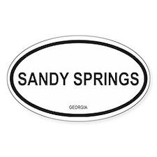 Sandy Springs Oval Decal
