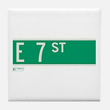 7th Street in NY Tile Coaster