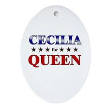 CECILIA for queen Oval Ornament