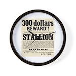 Reward Horse Thief Wall Clock