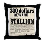 Reward Horse Thief Throw Pillow