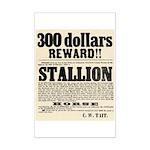 Reward Horse Thief Mini Poster Print