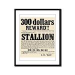 Reward Horse Thief Framed Panel Print