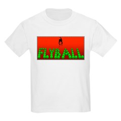 Flyball Dog with background Kids Light T-Shirt