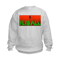 Flyball Dog with background Sweatshirt