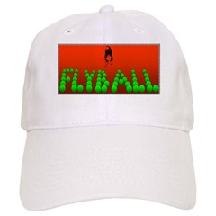 Flyball Dog with background Baseball Cap
