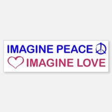 Imagine Peace & Love Bumper Bumper Bumper Sticker