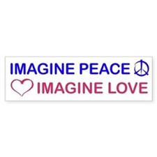 Imagine Peace & Love Bumper Bumper Sticker