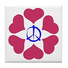 Imagine Peace & Love Tile Coaster