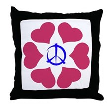 Imagine Peace & Love Throw Pillow