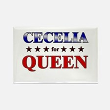 CECELIA for queen Rectangle Magnet