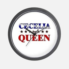 CECELIA for queen Wall Clock