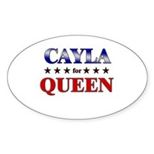CAYLA for queen Oval Decal