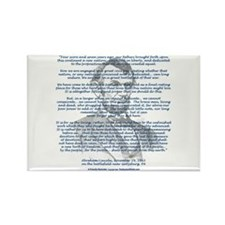 Gettysburg Address Rectangle Magnet