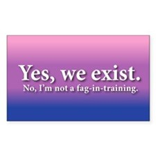 Not A Fag-In-Training Rectangle Decal